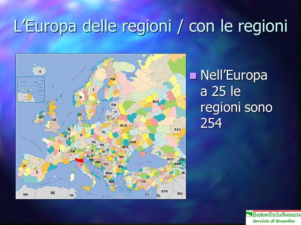 Servizio di Bruxelles LEuropa delle regioni / con le regioni NellEuropa a 25 le regioni sono 254 NellEuropa a 25 le regioni sono 254