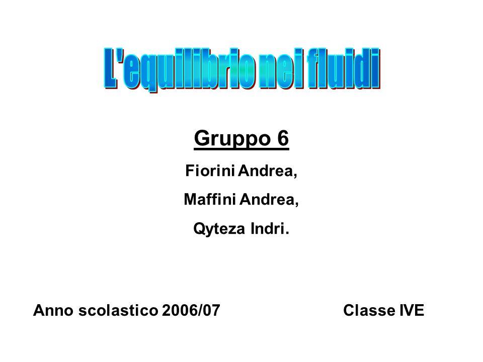 Gruppo 6 Fiorini Andrea, Maffini Andrea, Qyteza Indri. Anno scolastico 2006/07Classe IVE
