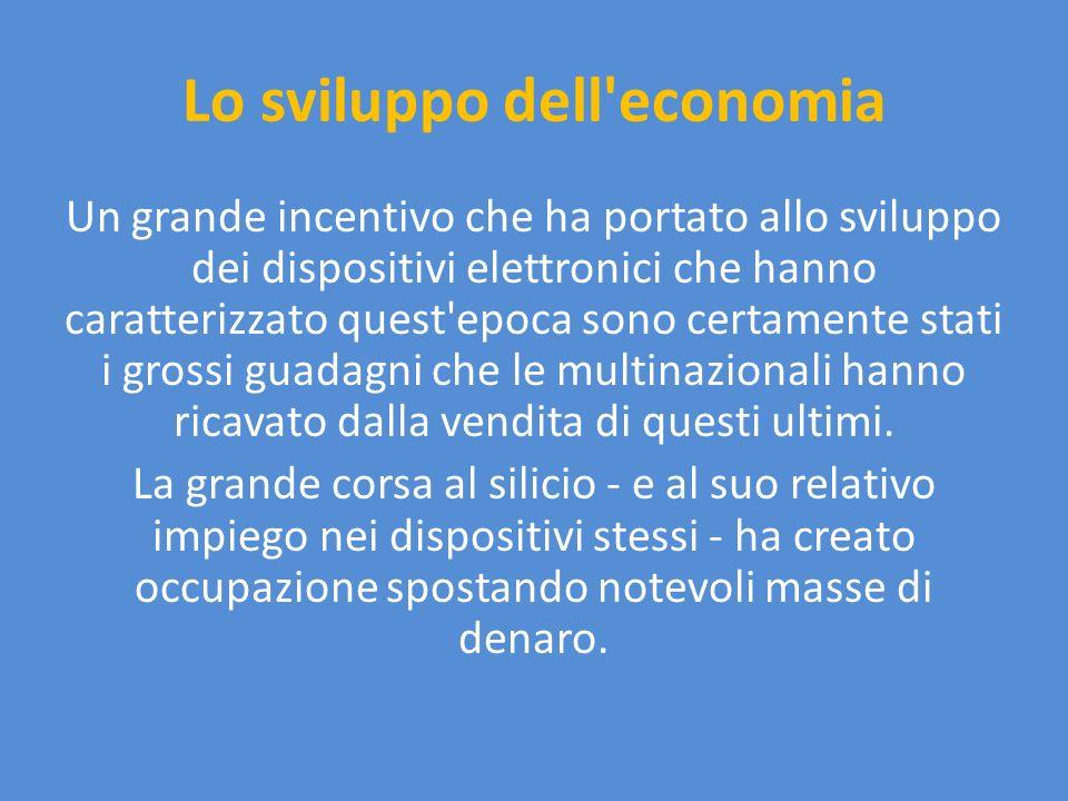 L industria e il terziario L industria ha avuto anch essa notevoli benefici dall impiego di strumentazioni elettroniche per le telecomunicazioni.