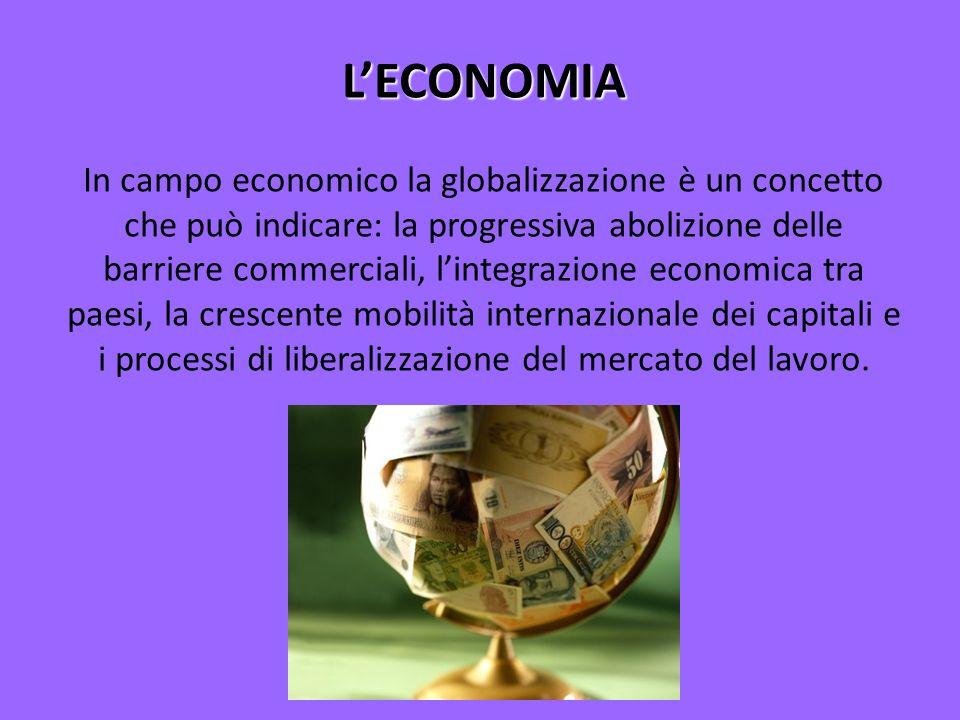 LORIGINE DELLECONOMIA La globalizzazione non è un fenomeno recente, infatti, la prima ondata di globalizzazione si è avuta tra il 1840 e il 1914, anche grazie allo sviluppo di nuove tecnologie che resero il mondo più piccolo come navi a vapore, ferrovie e telegrafo.