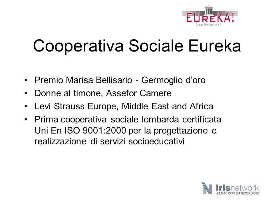 Cooperativa Sociale Eureka Premio Marisa Bellisario - Germoglio doro Donne al timone, Assefor Camere Levi Strauss Europe, Middle East and Africa Prima