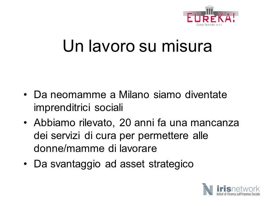 Un lavoro su misura Da neomamme a Milano siamo diventate imprenditrici sociali Abbiamo rilevato, 20 anni fa una mancanza dei servizi di cura per perme
