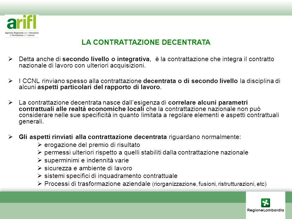 Detta anche di secondo livello o integrativa, è la contrattazione che integra il contratto nazionale di lavoro con ulteriori acquisizioni. I CCNL rinv