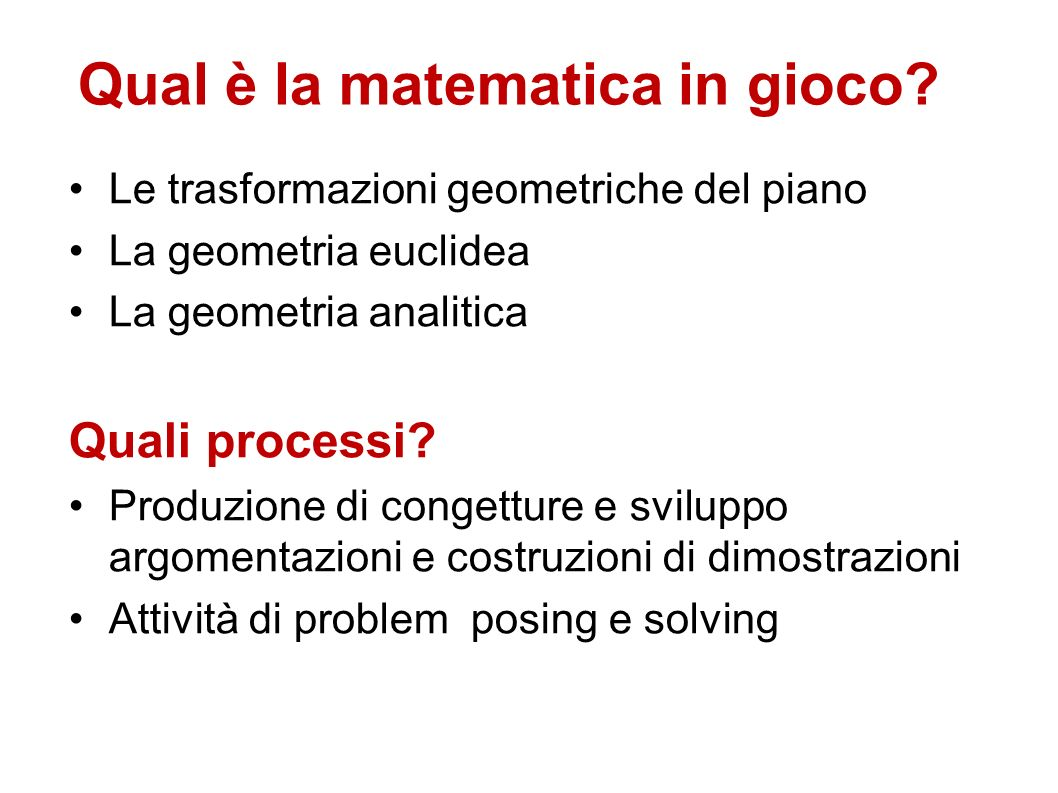 Qual è la matematica in gioco?