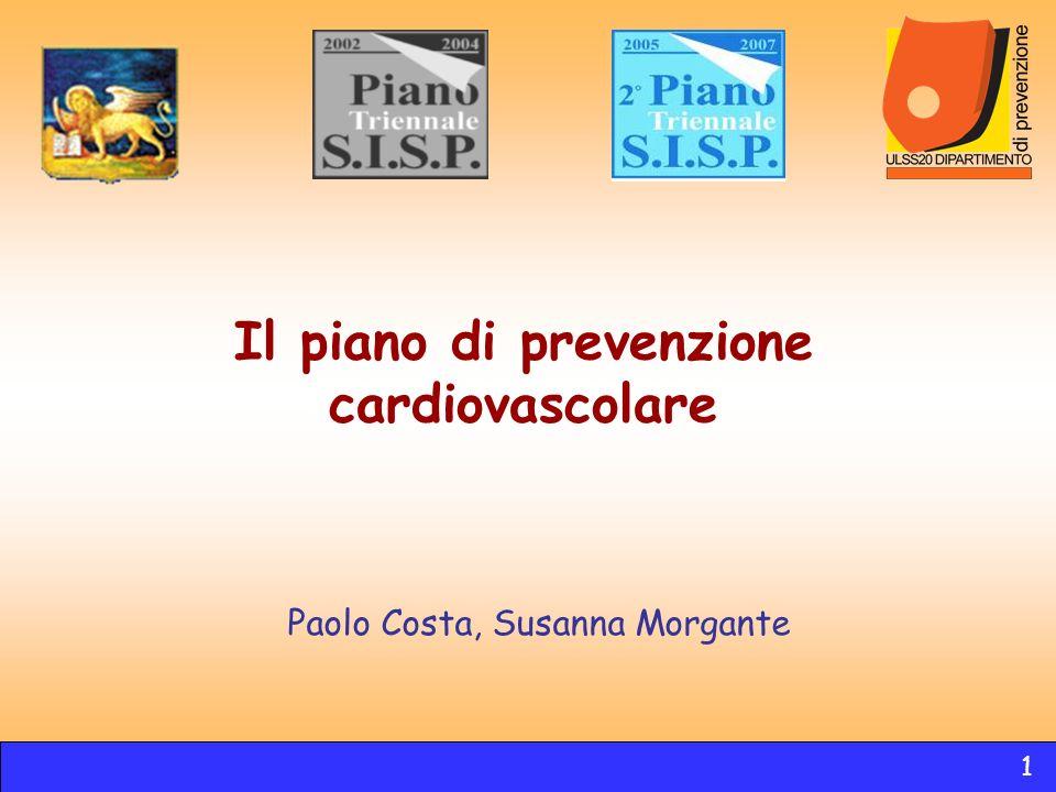 Il piano di prevenzione cardiovascolare Paolo Costa, Susanna Morgante 1