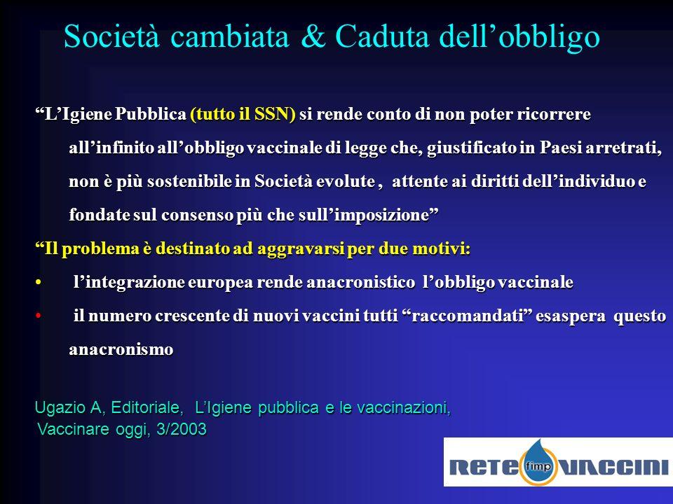 Il 10/02/2006 a Verona la Regione Veneto annuncia la valutazione di un iter istituzionale per la sospensione dellobbligo vaccinale.