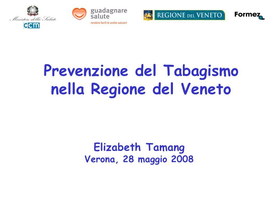Elizabeth Tamang Verona, 28 maggio 2008 Prevenzione del Tabagismo nella Regione del Veneto