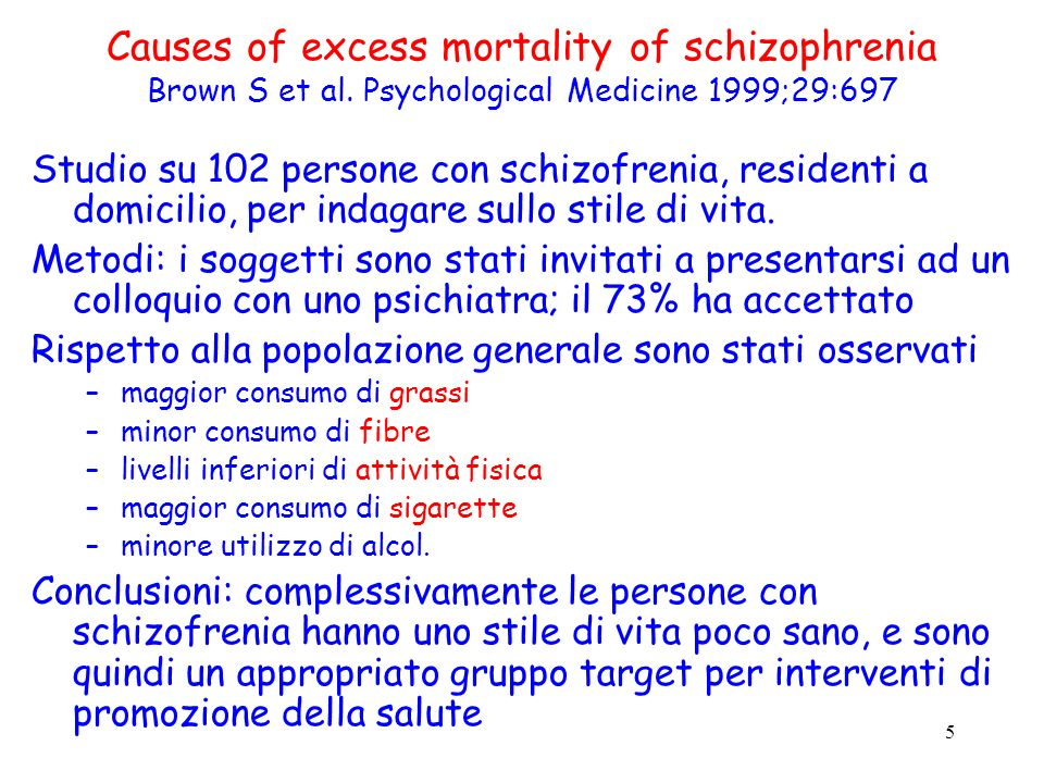 6 Diet, smoking and cardiovascular risk in people with schizophrenia McCreadie R et al.