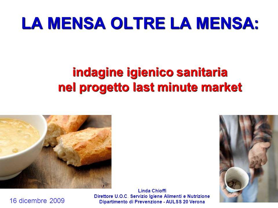 LA MENSA OLTRE LA MENSA: indagine igienico sanitaria nel progetto last minute market Linda Chioffi Direttore U.O.C. Servizio Igiene Alimenti e Nutrizi