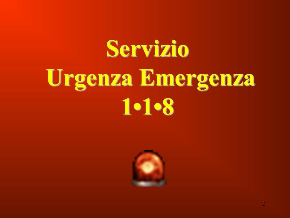 2 Servizio Urgenza Emergenza 118