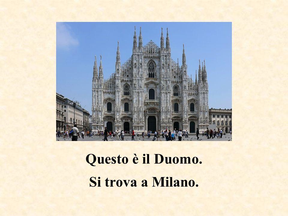 Questo è il Colosseo. Si trova a Roma.