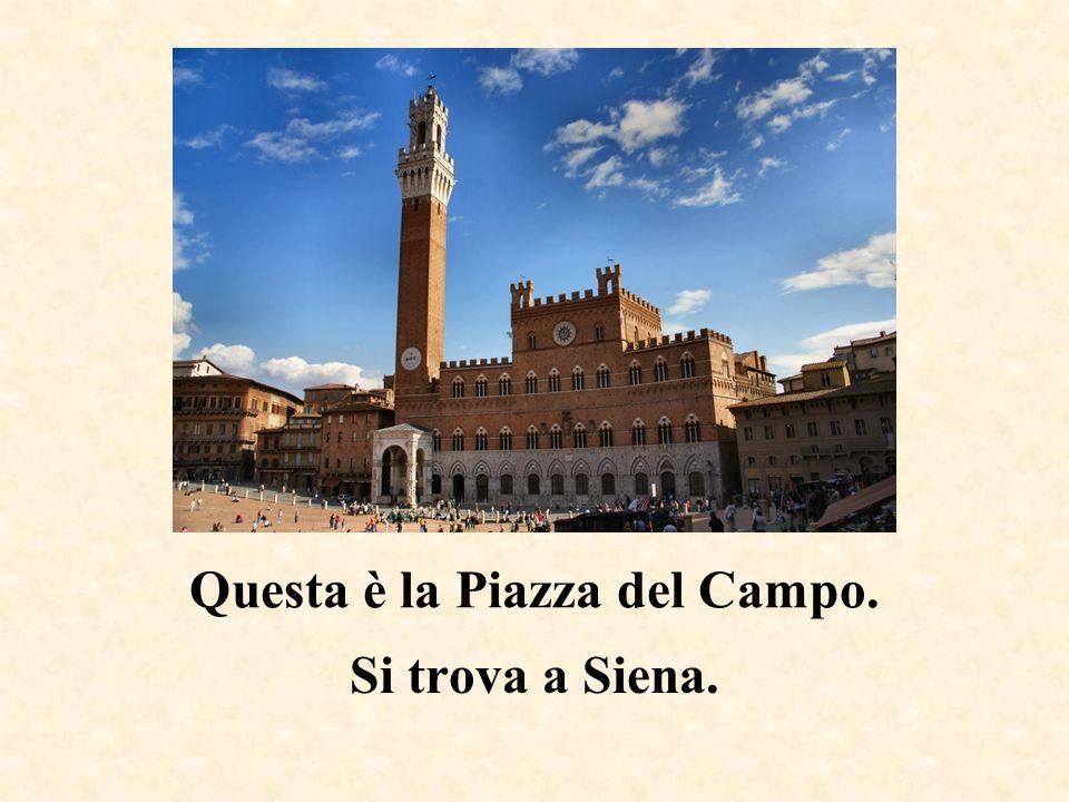 Questa è la torre pendente. Si trova a Pisa.