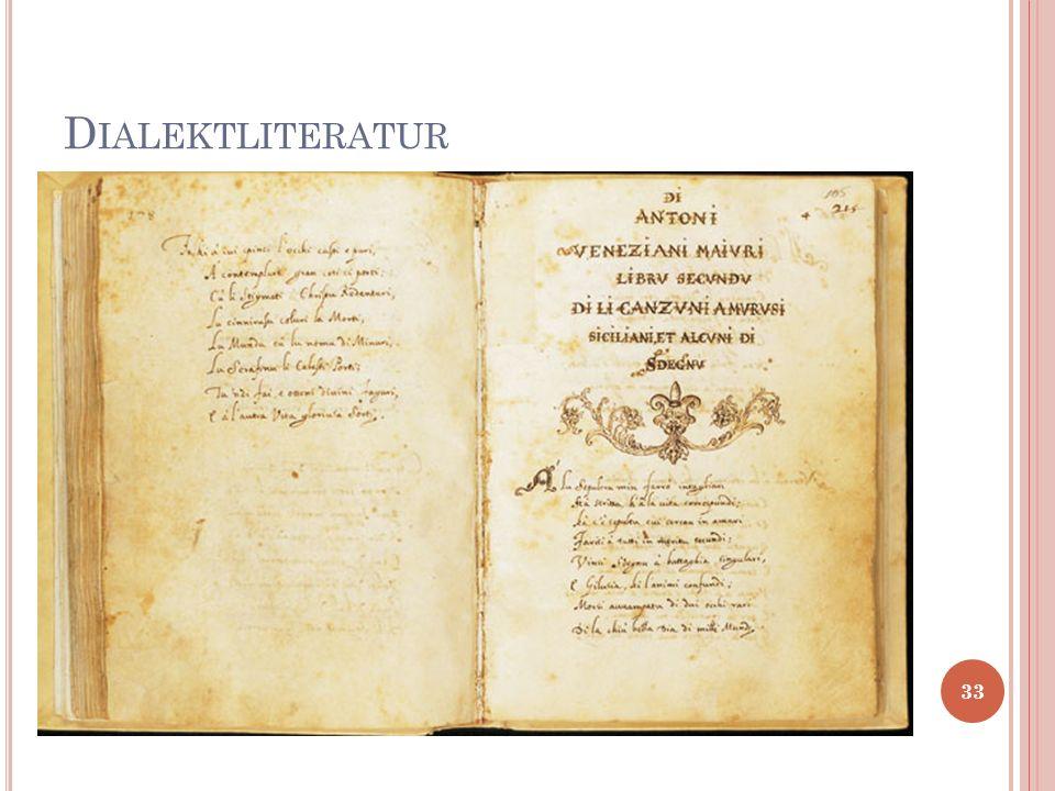 D IALEKTLITERATUR 33