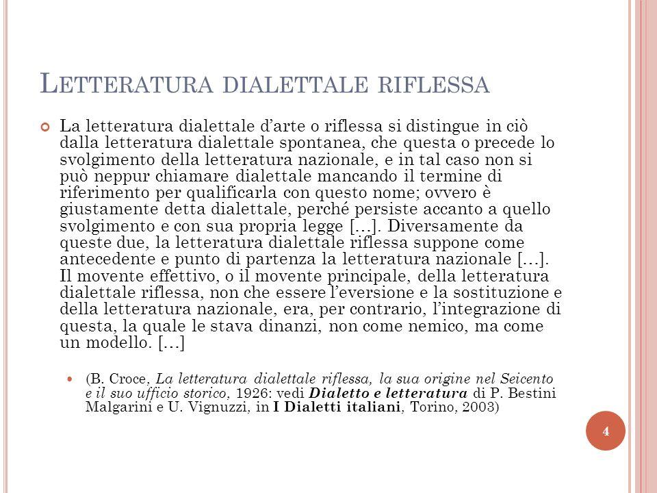 Neapolitanische Autoren des 17. und 18. Jahrhunderts D IALEKTLITERATUR 5