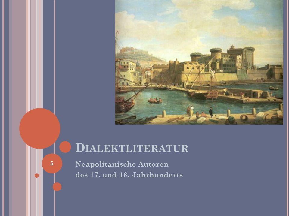 D IALEKT UND V OLKSKULTUR Cicerenella Trattasi di una famosa filastrocca popolare scritta da autori ignoti nel 1700 e diffusasi in era romantica.