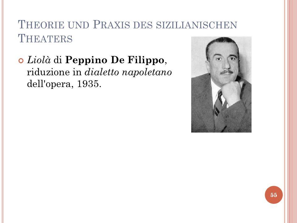 T HEORIE UND P RAXIS DES SIZILIANISCHEN T HEATERS 55 Liolà di Peppino De Filippo, riduzione in dialetto napoletano dell'opera, 1935.