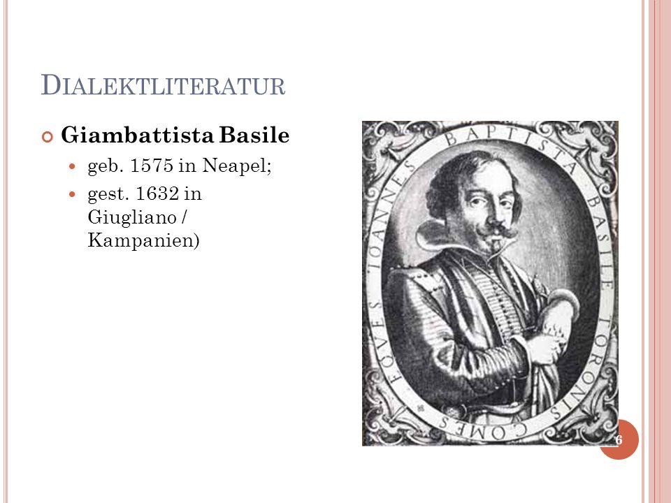 Neapolitanisch M ODERNE D IALEKTLITERATUR 27
