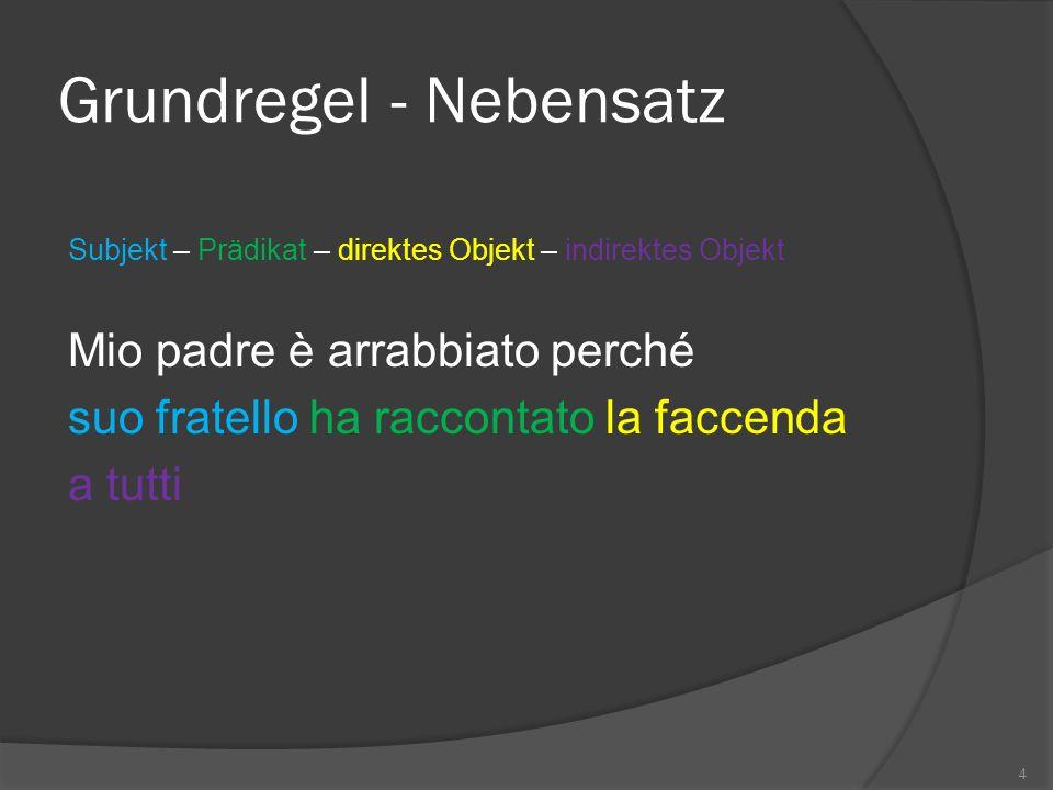 Abweichungen - Subjekt Prädikat vor Subjekt Poi sequì il silenzio 5