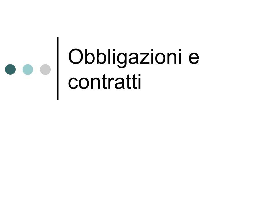 Obbligazioni e contratti