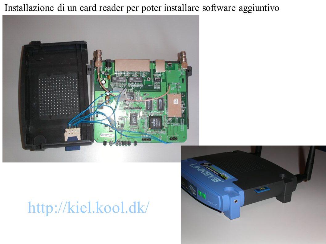 Installazione di un card reader per poter installare software aggiuntivo http://kiel.kool.dk/