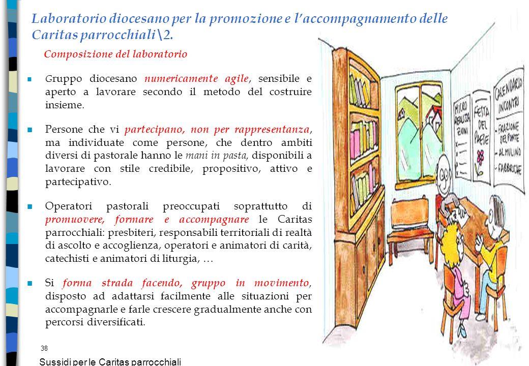 38 Sussidi per le Caritas parrocchiali Laboratorio diocesano per la promozione e laccompagnamento delle Caritas parrocchiali\2. Composizione del labor