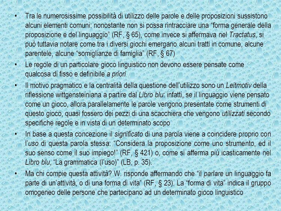 GIOCO LINGUISTICO, FORMA DI VITA E SIGNIFICATO NEL SECONDO WITTGENSTEIN Nella biografia wittgensteiniana, la conclusione del Tractatus rappresenta una