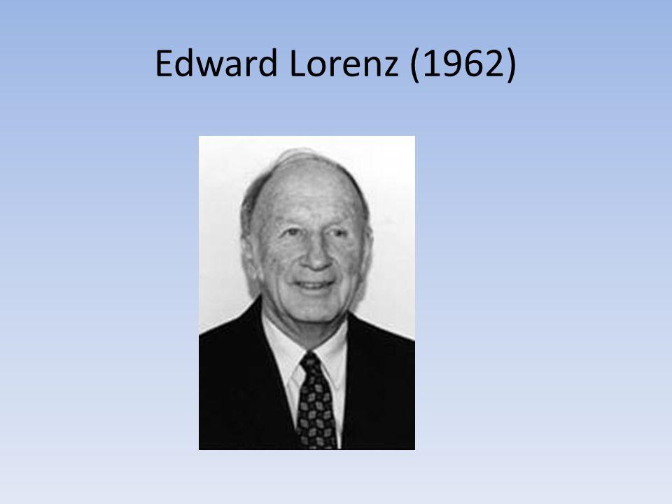 Edward Lorenz (1962)