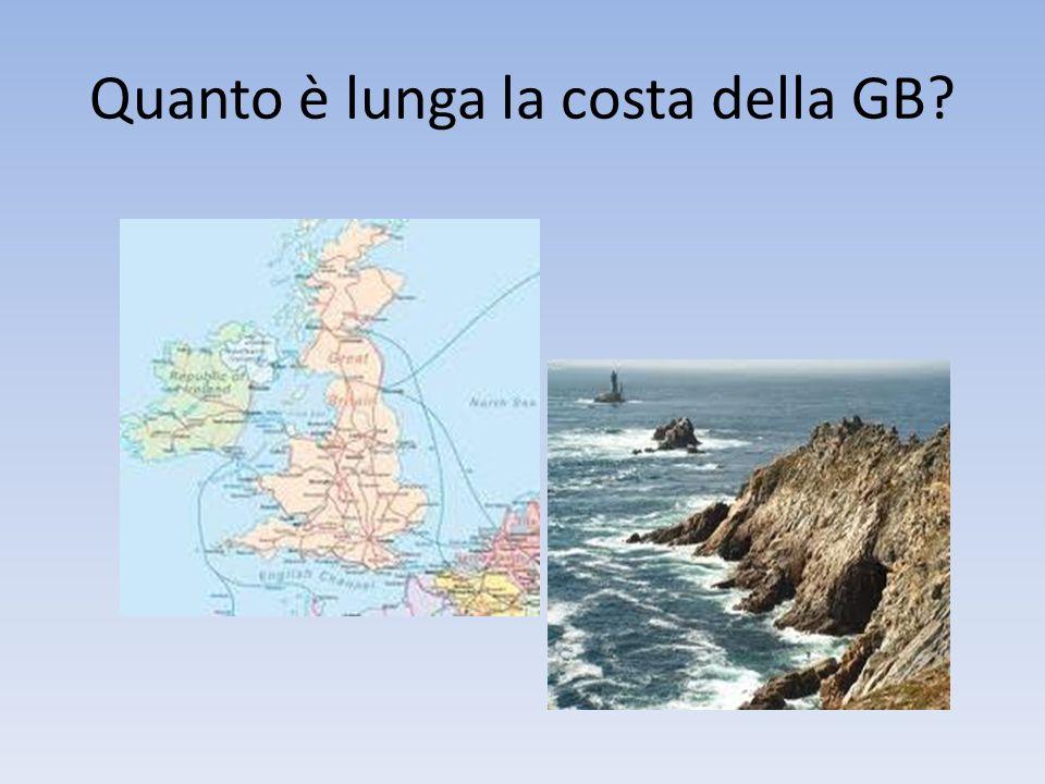 Quanto è lunga la costa della GB?