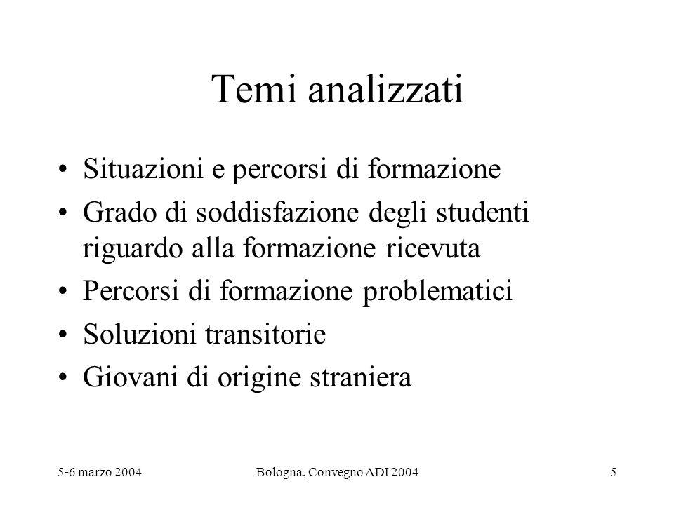 5-6 marzo 2004Bologna, Convegno ADI 200416 Soluzioni intermedie: dove, per chi, ….