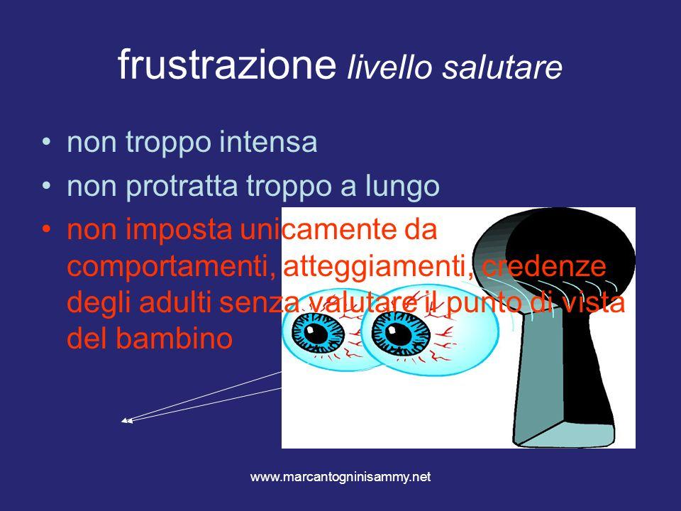 www.marcantogninisammy.net frustrazione livello salutare non troppo intensa non protratta troppo a lungo non imposta unicamente da comportamenti, atte