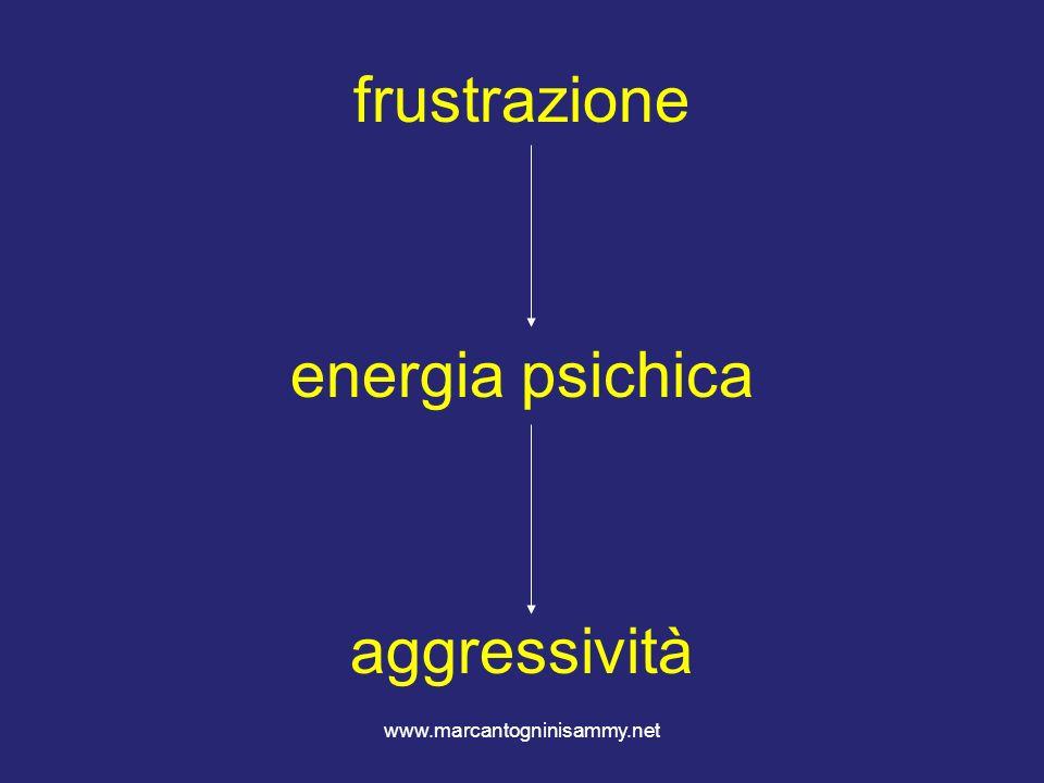 frustrazione energia psichica aggressività