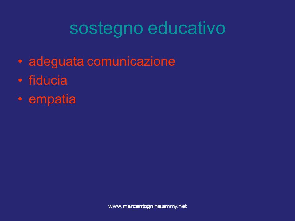 www.marcantogninisammy.net sostegno educativo adeguata comunicazione fiducia empatia