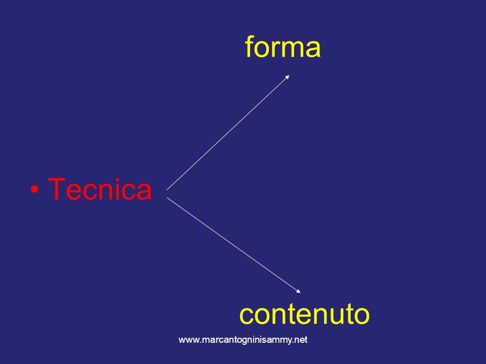 www.marcantogninisammy.net forma Tecnica contenuto