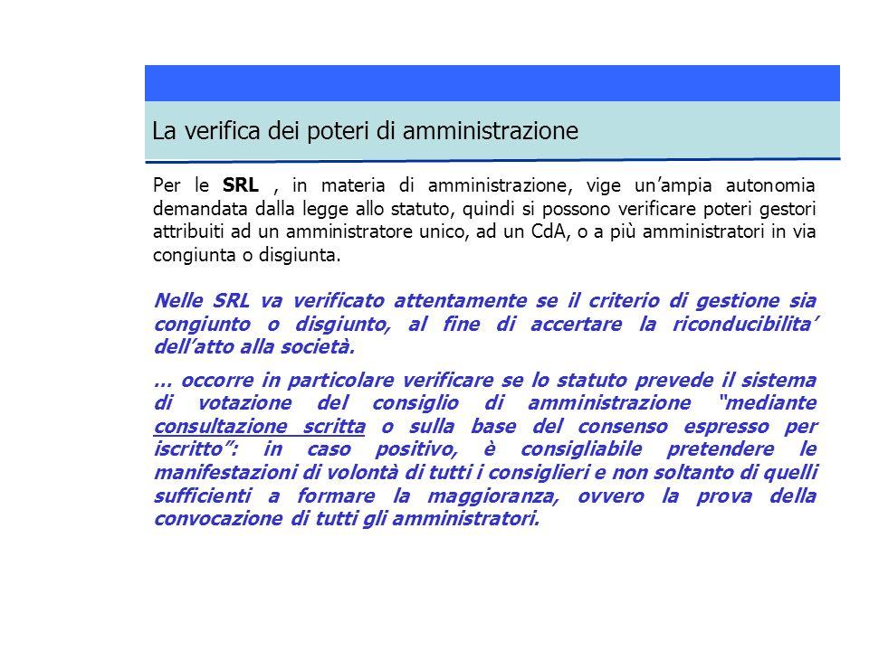 Per le SRL, in materia di amministrazione, vige unampia autonomia demandata dalla legge allo statuto, quindi si possono verificare poteri gestori attribuiti ad un amministratore unico, ad un CdA, o a più amministratori in via congiunta o disgiunta.