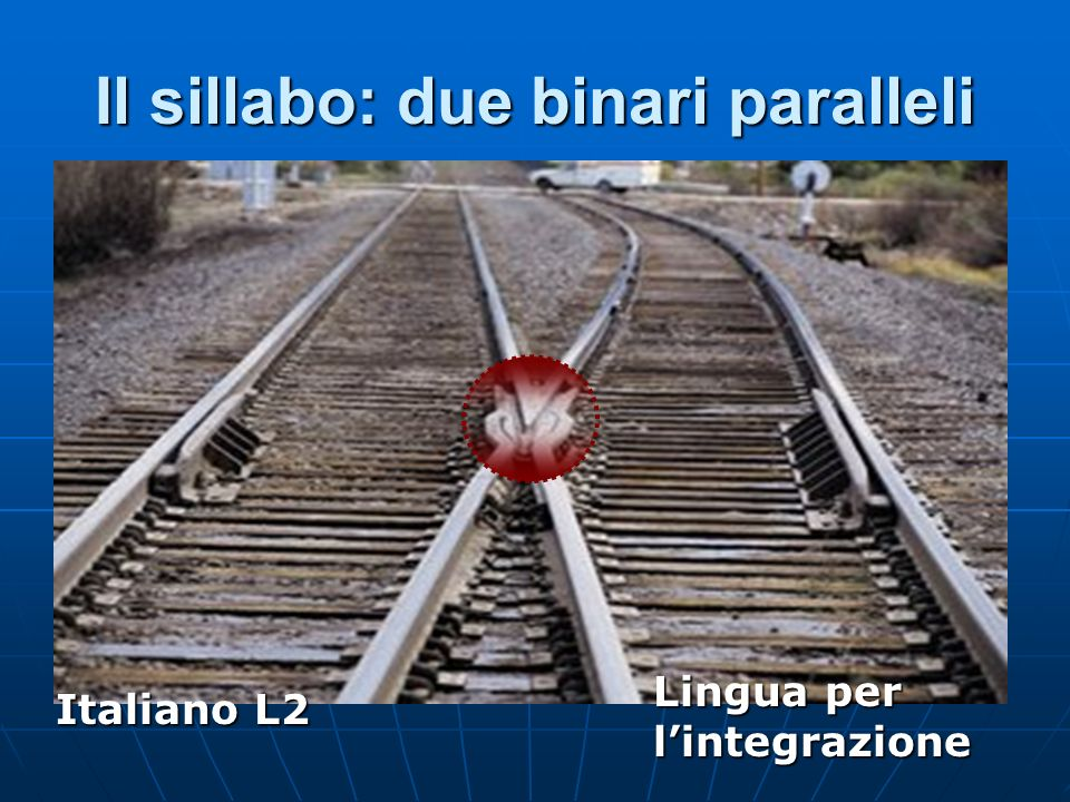 Il sillabo: due binari paralleli Italiano L2 Lingua per lintegrazione