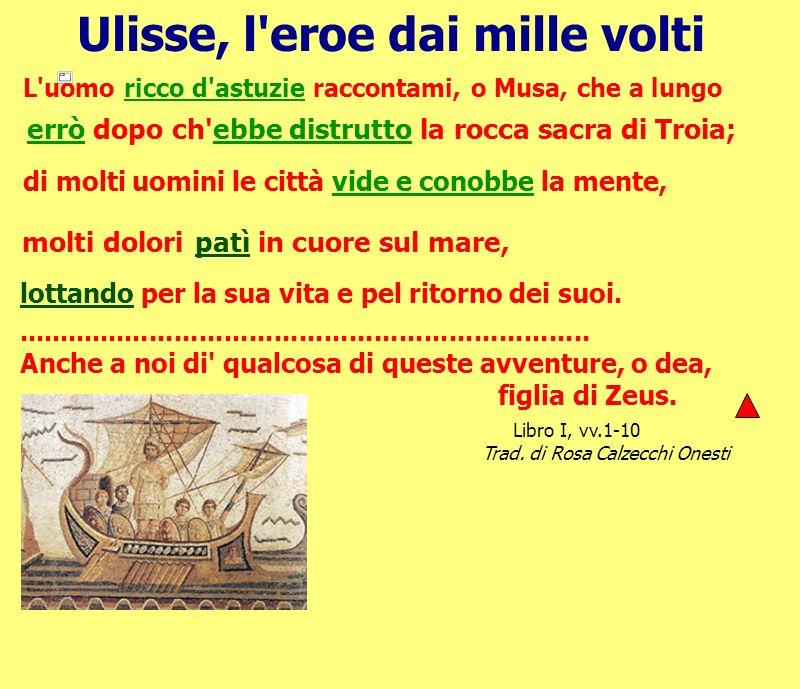 Ulisse, l'eroe dai mille volti L'uomo ricco d'astuzie raccontami, o Musa, che a lungo errò dopo ch'ebbe distrutto la rocca sacra di Troia; di molti uo