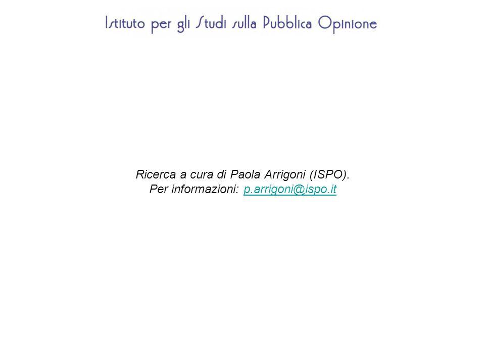 Ricerca a cura di Paola Arrigoni (ISPO). Per informazioni: p.arrigoni@ispo.itp.arrigoni@ispo.it