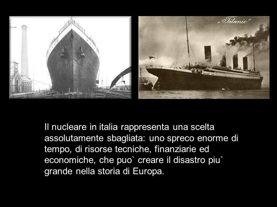 Il nucleare in italia rappresenta una scelta assolutamente sbagliata: uno spreco enorme di tempo, di risorse tecniche, finanziarie ed economiche, che