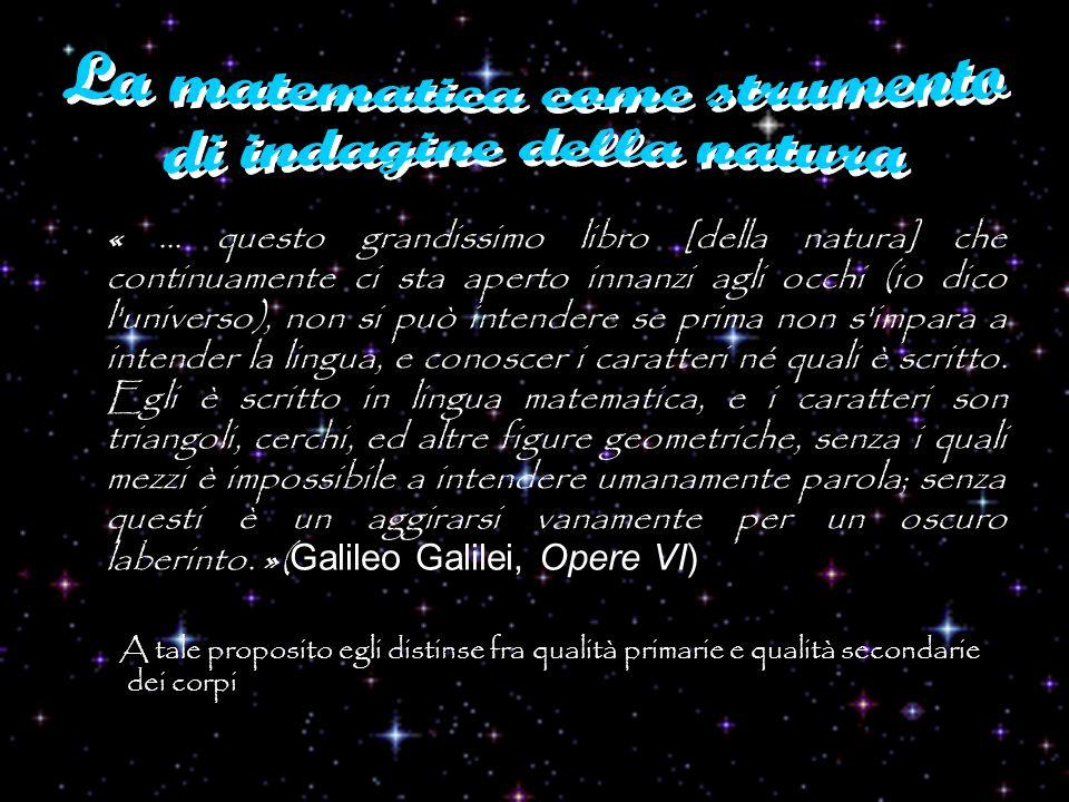 «... questo grandissimo libro [della natura] che continuamente ci sta aperto innanzi agli occhi (io dico l'universo), non si può intendere se prima no