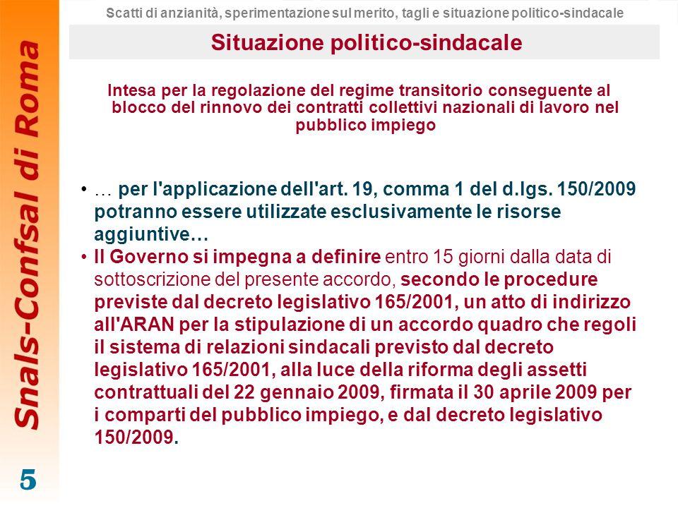 5 Intesa per la regolazione del regime transitorio conseguente al blocco del rinnovo dei contratti collettivi nazionali di lavoro nel pubblico impiego