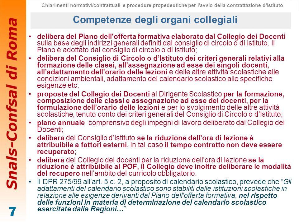 7 delibera del Piano dell'offerta formativa elaborato dal Collegio dei Docenti sulla base degli indirizzi generali definiti dal consiglio di circolo o