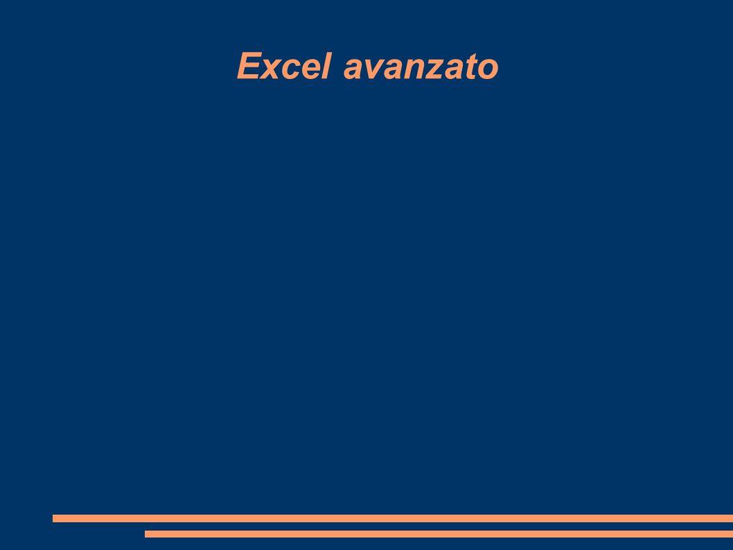 Ricerca obbiettivo Il comando Ricerca obiettivo permette di trovare il valore che genera il risultato desiderato in una formula.