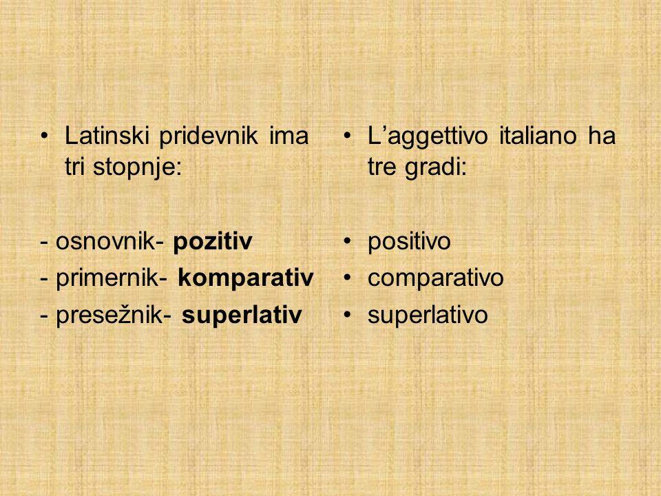 KOMPARATIV - COMPARATIVO osnova pozitiva + - IOR (m.