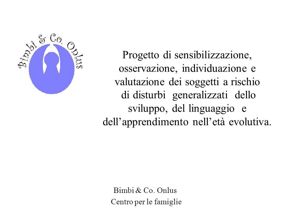 Progetto di sensibilizzazione, osservazione, individuazione e valutazione dei soggetti a rischio di disturbi generalizzati dello sviluppo, del linguag