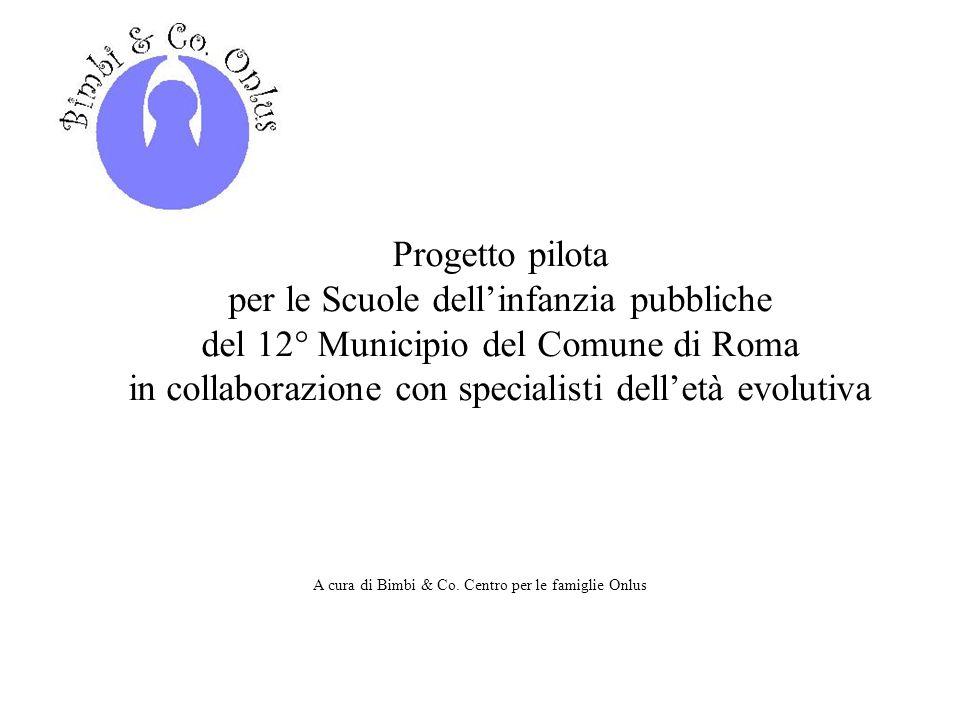 Progetto pilota per le Scuole dellinfanzia pubbliche del 12° Municipio del Comune di Roma in collaborazione con specialisti delletà evolutiva A cura d