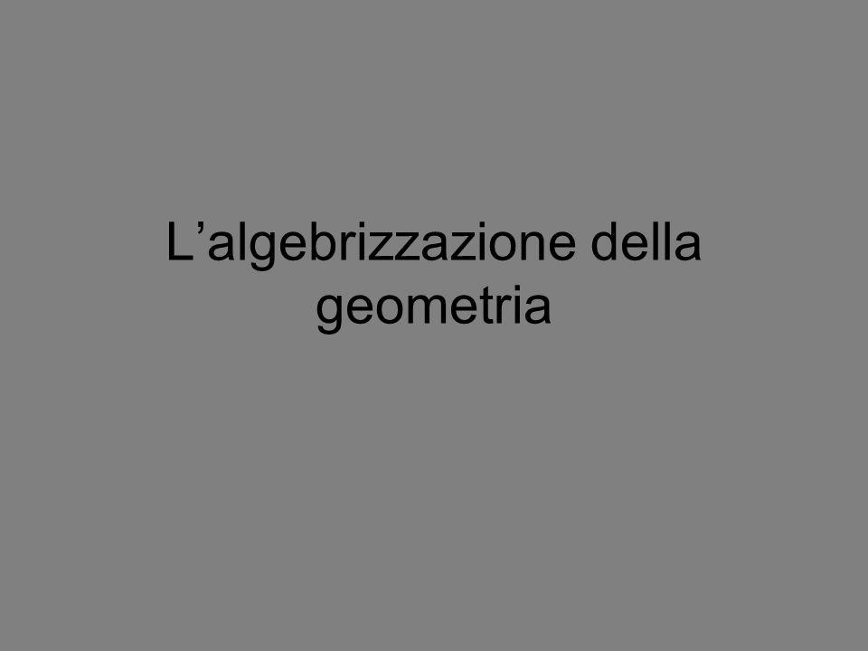 Lalgebrizzazione della geometria