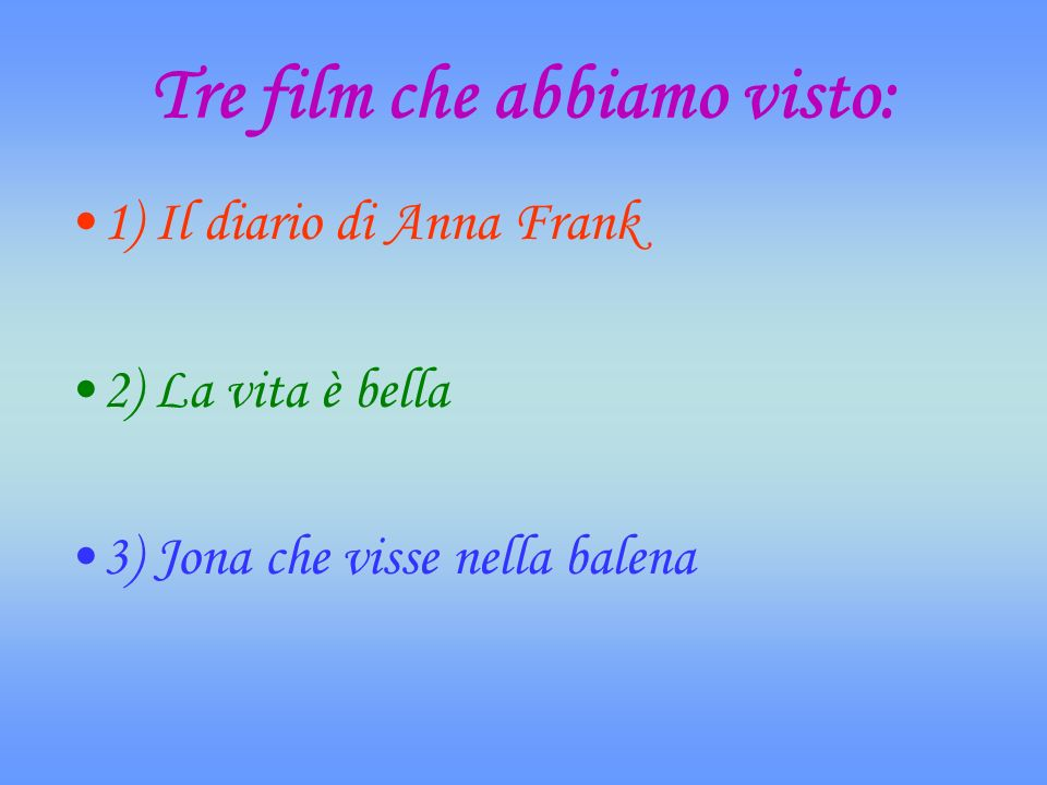I nostri commenti sul film Il diario di Anna Frank.