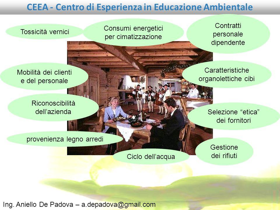 Ing. Aniello De Padova – a.depadova@gmail.com CEEA - Centro di Esperienza in Educazione Ambientale presentazione del MASTER UNIVERSITARIO ESPERTO IN E
