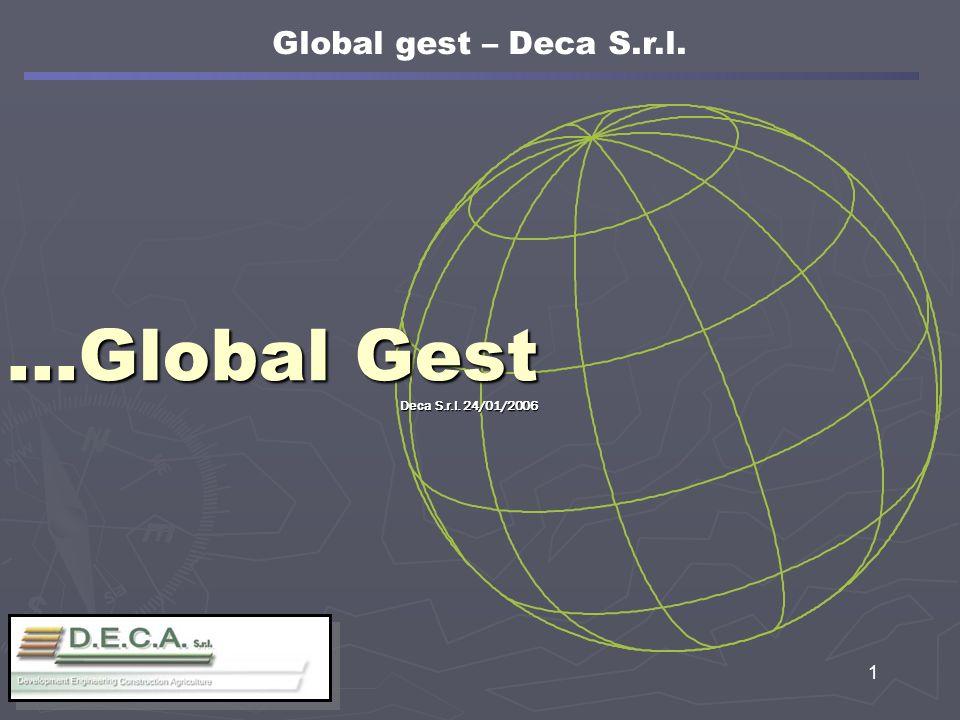 12 Programma di lavoro di Global gest La creazione del programma di lavoro ordinario in automatico Global gest – Deca S.r.l.