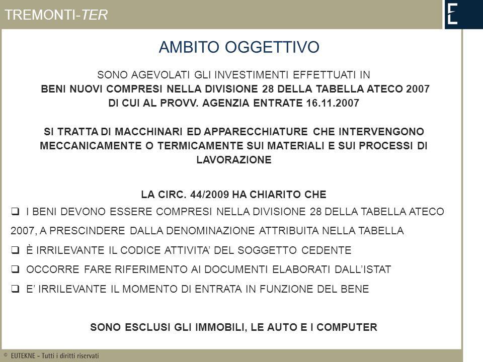 REVOCA DELLAGEVOLAZIONE TREMONTI-TER CESSIONE NEL PERIODO DI SORVEGLIANZA (ART.